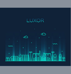 luxor skyline egypt big city linear style vector image