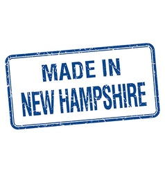 Made in new hampshire blue square isolated stamp vector