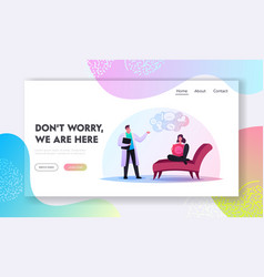 mind health problem landing page template vector image