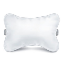 Mock up white pillow auto vector