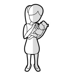 Mother holding son lovely vector