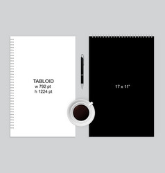 notepad and pen vector image
