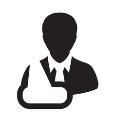 nursing icon of male person profile avatar symbol vector image