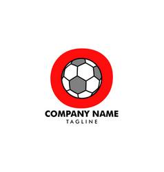 o letter logo football ball logo design vector image