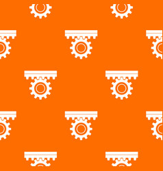 one gear pattern seamless vector image