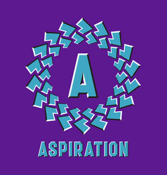 optical illusion aspiration logo in round moving vector image