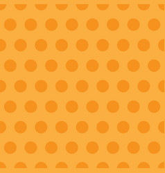 Orange polka dots pattern background vector