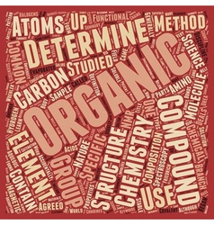 Organic Chemistry 101 text background wordcloud vector