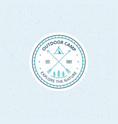 outdoor camp logo vector image