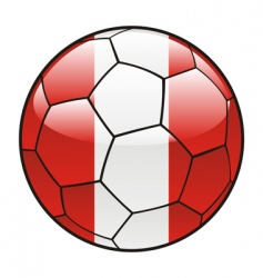 peru flag on soccer ball vector image
