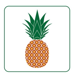 Pineapple with leaf icon color vector image