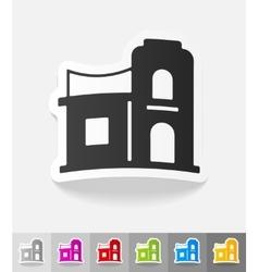 Realistic design element arabic house vector