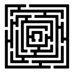 rectangle maze izolated on white2 vector image