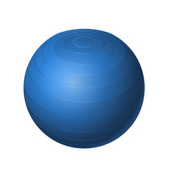 rubber blue ball - modern realistic vector image