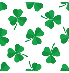 seamless pattern green clover vector image