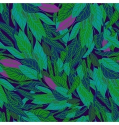 Seamless pattern with leafs vector