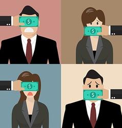 Set bribery concept vector