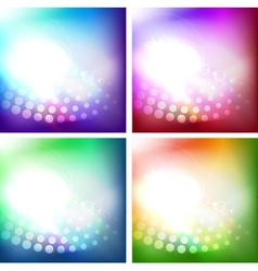 Set of shiny backgrounds vector image