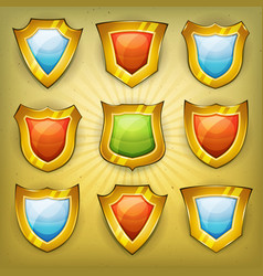 shield security icons for ui game vector image