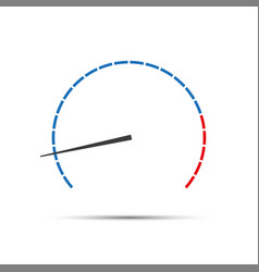 simple tachometer with indicator vector image