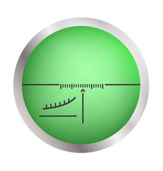 sniper crosshair icon realistic style vector image