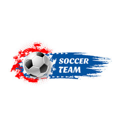 soccer sport game team football ball icon vector image