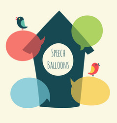 Speech bubble with bird and nesting box vector