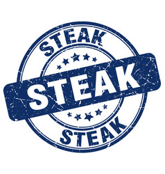 Steak stamp vector