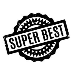 Super Best rubber stamp vector