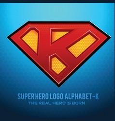 Superhero logo icon with letter k vec vector
