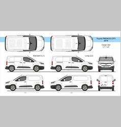 Toyota proace city van l1 l2 2018-present vector