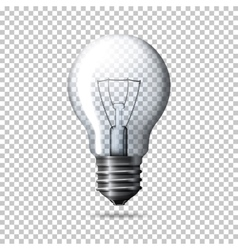 Transparent realistic light bulb isolated vector