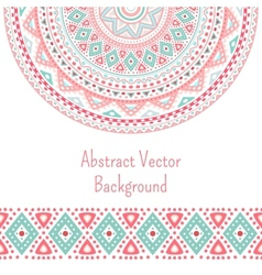 tribal ethnic seamless stripe and round pattern vector image
