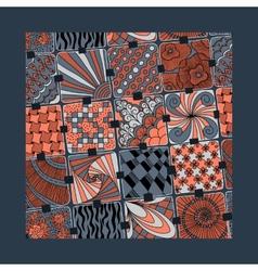 Varicolored pattern zentangle vector