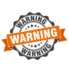 Warning stamp sign seal vector