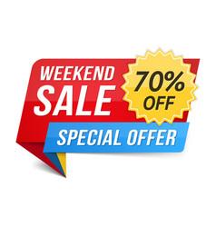 weekend sale vector image