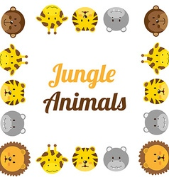 Zoo animals design vector
