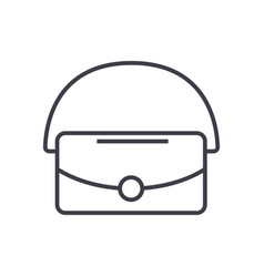 bag line icon sign on vector image