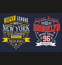 college new york city vector image vector image