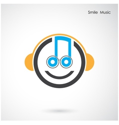 Creative abstract musical design vector image
