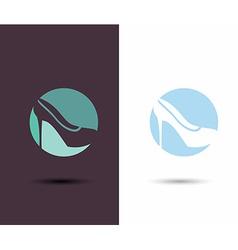 Logo Women sign Women shoe icon High heels shoe vector image vector image