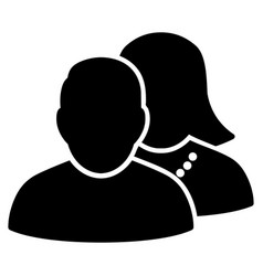 people flat icon vector image