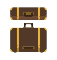 Set of suitcase icon vector image vector image