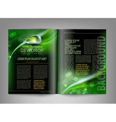 template print edition of the magazine vector image
