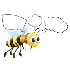 Empty thoughts of a flying bee vector image vector image