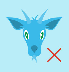 flat goat animal farm icon vector image