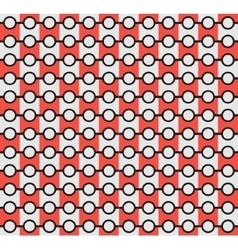 Isolated abstract grey and red color pattern vector image