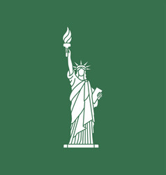 statue of liberty new york landmark vector image