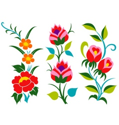 abstract scroll flower pattern vector image