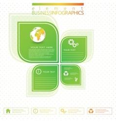 Modern green infographic design vector image